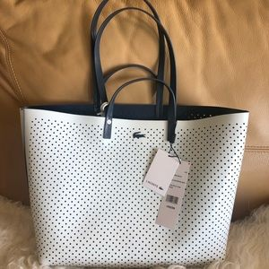 Lacoste Reversible Tote Handle Shopping Bag*NWT